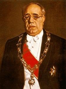 Manuel Azaña Díaz | Presidente de la II República Española (1936-1939) | Óleo de José María López Mezquita (1936) | Hispanic Society of America - Nueva York