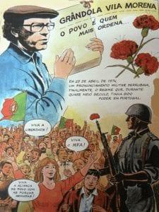 Grândola, Vila Morena   José 'Zeca' Afonso   Revolución de los Claveles   25 de abril de 1974   Cartel alegórico