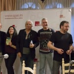 Luis Eduardo Aute, Alicia Arés, Joaquín Lera, Albert Anguela , Pablo Méndez y Javier Paixariño | (CC) Paula Díaz