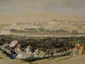 La pradera de San Isidro | 1788 | Detalle central | Francisco de Goya y Lucientes | Museo Nacional del Prado | Madrid