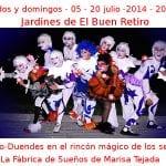 05 - 20 julio - 2014 - Sábados y domingos 20:00 h | Jardines de El Buen Retiro | Los Eco-Duendes en el rincón mágico de los sentidos | Veranos de la Villa 2014 | Madrid