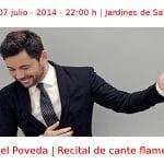 06 y 07 julio - 2014 - 22:00 h | Jardines de Sabatini | Miguel Poveda - Recital de cante flamenco | Veranos de la Villa 2014 | Madrid
