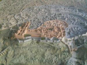 Maqueta de la reconstrucción ideal del Madrid islámico