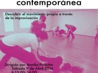 Taller de Danza Contemporánea | Annika Pannitto | El Umbral de Primavera | Lavapiés - Madrid | 09/04/2016