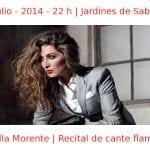 11 julio - 2014 - 22:00 h | Jardines de Sabatini | Estrella Morente - Recital de cante flamenco | Veranos de la Villa 2014 | Madrid
