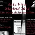 Arte Vivo | Madrid 2014 | Las voces de los sentidos | Sala Búho Real | Madrid | Miércoles 24 de septiembre de 2014 - 20:30 horas