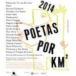 Festival Poético '2014 Poetas por km2' | Centro Cultural Conde Duque | Madrid | Del 2 al 5 de octubre de 2014 | Diseño: Milicia Gráfica | Cartel