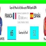 Francia vs España | 65 - 52 | Cuartos de Final | Copa del Mundo de Baloncesto España 2014 | FIBA Basketball World Cup Spain 2014