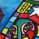 Mural a Víctor Jara | Pintado en el Galpón Víctor Jara sede de la Fundación Víctor Jara | Barrio Brasil - Santiago - Chile | Detalle