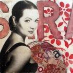 Sara Montiel 2 | Serie Stars | 20X20 - Técnica mixta sobre lienzo | Carmen Casanova | Exposición 'Glamourama' | Galería Herráiz | Madrid