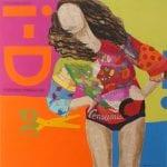 The Fun Issue | 120X120 - Técnica mixta sobre lienzo | Carmen Casanova | Exposición 'Glamourama' | Galería Herráiz | Madrid