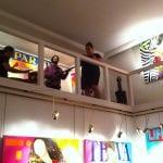 Un momento de la actuación musical   Inauguración de la Exposición 'Glamourama' de Carmen Casanova   Galería Herráiz de Madrid   Jueves 4 de septiembre de 2014