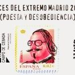 Voces del Extremo Madrid 2014 | 'Poesía y desobediencia' | El Campo de Cebada | La Latina - Madrid | Del 2 al 5 de octubre de 2014 | Diseño cartel: David Moreno Hernández