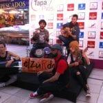 Actuación de Elzurdo en la inauguración de Tapapies 2014 | Mercado Municipal de San Fernando | Lavapiés - Madrid | Jueves 16/10/2014