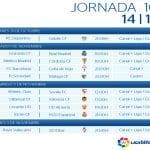 Calendario Jornada 10ª | Liga BBVA Temporada 2014-2015 | Del 31 de octubre al 3 de noviembre de 2014