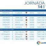 Calendario | Jornada Novena | Liga BBVA | Temporada 2014-2015 | Del 24 al 26 de octubre de 2014