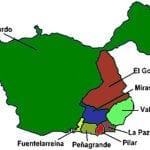 Plano de los 8 barrios del Distrito Fuencarral-El Pardo de Madrid