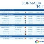 Calendario | Jornada Décimo tercera | Liga BBVA | Temporada 2014-2015 | Del 28 de noviembre al 1 de diciembre de 2014