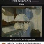 Exposición óleos Ricardo Renedo | 'En busca del pasado perdido' | Restaurante Asador Figón El Baco | Madrid | Del 9 de octubre al 16 de noviembre de 2014 | Cartel