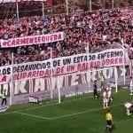 Pancarta solidaria en el fondo de Bukaneros del Estadio de Vallecas | Rayo Vallecano vs. Celta de Vigo | Domingo 23 de noviembre de 2014