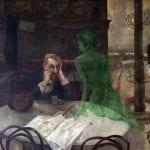The absinthe drinker (El bebedor de absenta) | Circa 1901| Pintura mural de Viktor Oliva en el Café Slavia de Praga (República Checa)