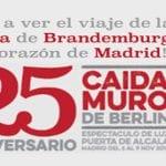 ¡Ven a ver el viaje de la Puerta de Brandemburgo al corazón de Madrid! | 25º Aniversario Caída Muro de Berlín | Espectáculo de luz | Puerta de Alcalá de Madrid | Del 6 al 9 de noviembre de 2014 | Portada