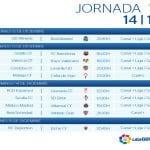 Calendario | Jornada décimo quinta | Liga BBVA | Temporada 2014-2015 | Del 12 al 15 de diciembre de 2014