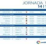 Calendario | Jornada décimo sexta | Liga BBVA | Temporada 2014-2015 | Del 19 de diciembre de 2014 al 4 de febrero de 2015