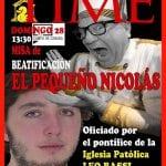 Ordenación 'Pequeño Nicolás' como Obispo de la Iglesia Patólica | 'El Campo de Cebada' | Domingo 28 de diciembre de 2014 | Cartel