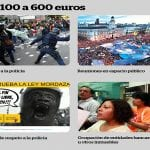 Resumen gráfico de la 'Ley Mordaza' | De 100 a 600 euros | Imagen: DiagonalPeriódico.Net | Jueves 11-12-2014