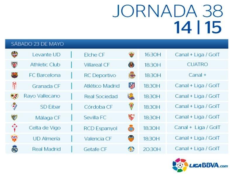 Calendario De Liga Bbva 15 16.Liga Bbv Calendario