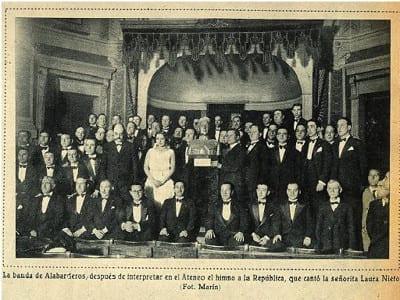 Estreno Canto Rural a la España | Ateneo de Madrid 26/04/1931 | Fotografía de Marín publicada en Mundo Gráfico | Archivo Ateneo de Madrid