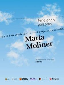 María Moliner. Tendiendo palabras | Vicky Calavia | Centro Cultural Conde Duque | Madrid | 02/03/2017 | Cartel