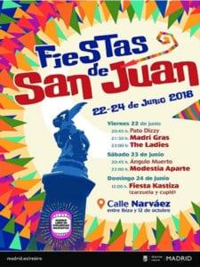 Fiestas de San Juan 2018   Retiro   Madrid   21-24/06/2018   Cartel Retiro Norte