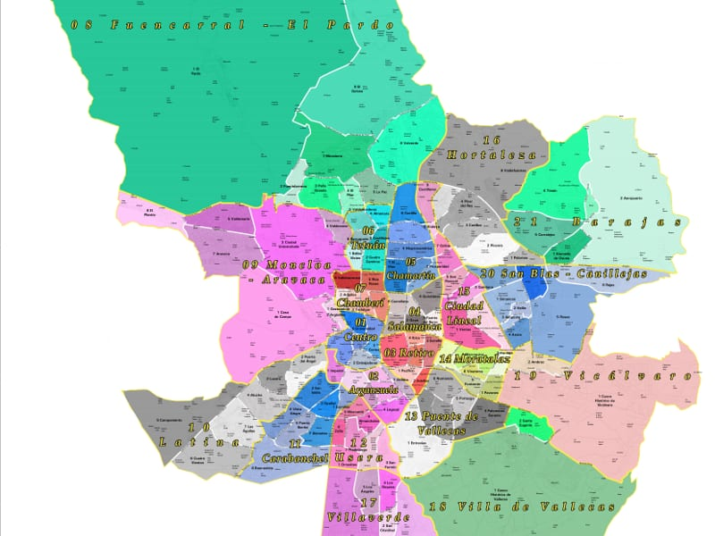 Mapa Codigos Postales Madrid.Todos Los Barrios De Madrid Pongamos Que Hablo De Madrid