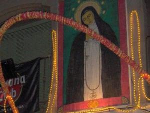 Fiestas de San Cayetano, San Lorenzo y La Paloma 2019 | Fiestas de La Paloma 2018 | 'Virgen de la Paloma' | Pintura en seda (2000) de Chelo Lera | Colección Toni Bonanno