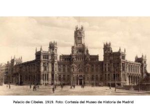 Centenario del Palacio de Cibeles | 14-17/03/2019 | CentroCentro | Plaza de Cibeles | Retiro | Madrid | Palacio de Cibeles 1919 | Foto Museo de Historia de Madrid