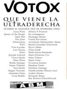 Exposición Votox. ¡Que viene la ultraderecha! | 27/04/2019 | ABM Confecciones | Puente de Vallecas | Madrid | Participantes