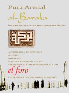 Al-baraka | Exposición fotografica de Pura Arenal | El foro de Izab | Desde el 6 de junio de 2019 | La Latina (Madrid) | Cartel