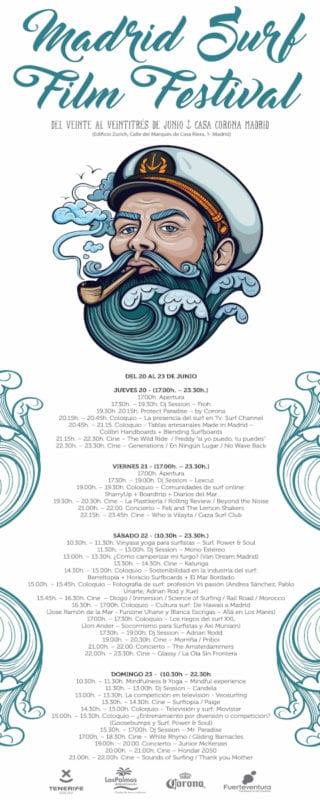 4º Madrid Surf Film Festival | Casa Corona Madrid | 20-23/06/2019 | Programación