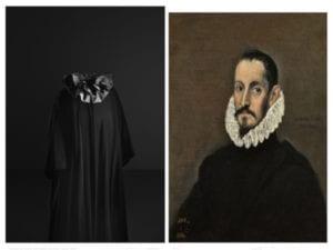 Balenciaga y la pintura española | Museo Nacional Thyssen-Bornemisza | Madrid | 18/06-22/09/2019 | Abrigo de noche (1955) | Retrato de un caballero (c. 1586) | El Greco