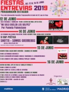Fiestas de Entrevías 2019 | 12 - 16/06/2019 | Puente de Vallecas | Madrid | Cartel