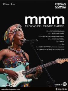 Músicas del Mundo Madrid 2019 | Teatro Fernán Gómez. Centro Cultural de la Villa | 25/06 - 04/07/2019 | Madrid | Cartel
