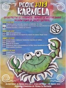 Fiestas de la Karmela 2019 | Puente de Vallecas | Madrid | 11-14/07/2019 | Cartel Peque Karmela 2019