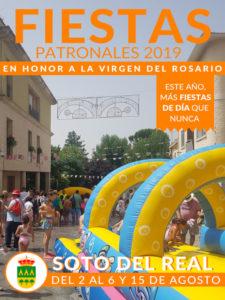 Fiestas de Soto del Real 2019 | 01-15/08/2019 | Soto del Real | Comunidad de Madrid | Cartel