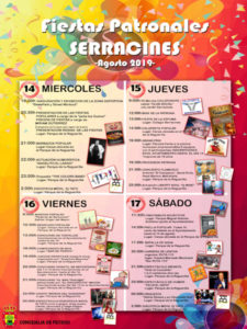 Fiestas de Serracines 2019 | En honor de la Virgen de la Medalla Milagrosa | 13-17/08/2019 | Fresno de Torote | Comunidad de Madrid | Cartel del programa