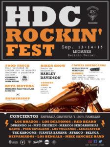 HDC Rockin'Fest 19 | Leganés | Comunidad de Madrid | 13-15/09/2019 | Cartel