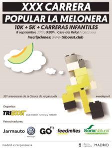 30ª Carrera Popular La Melonera 2019 | Arganzuela | Madrid | 08/09/2019 | Cartel