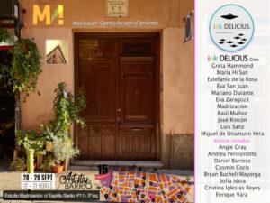 Estudio de Madrización | Los Artistas del Barrio 2019 | Malasaña | Madrid | 28-29/09/2019 | Cartel