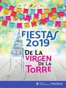 Fiestas de la Virgen de la Torre 2019 | Villa de Vallecas | Madrid | 06-08 y 13-15/09/2019 | Cartel